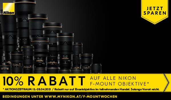 Nikon F-Mount Objektive - 10% Rabattwochen