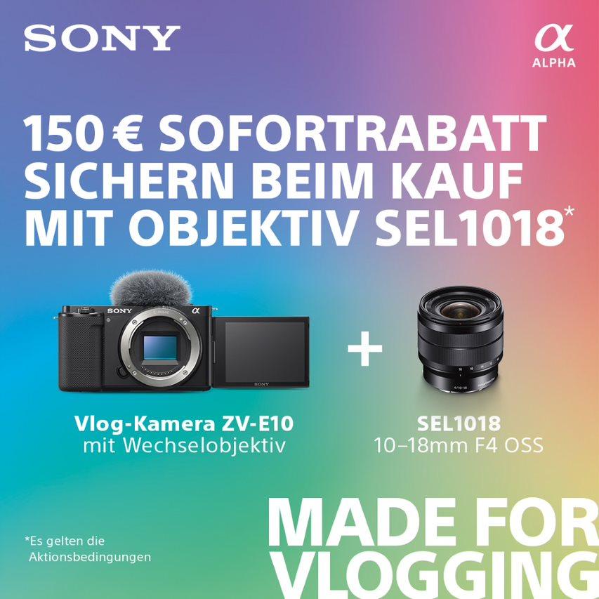 Sony ZV-E10 Einführungsaktion