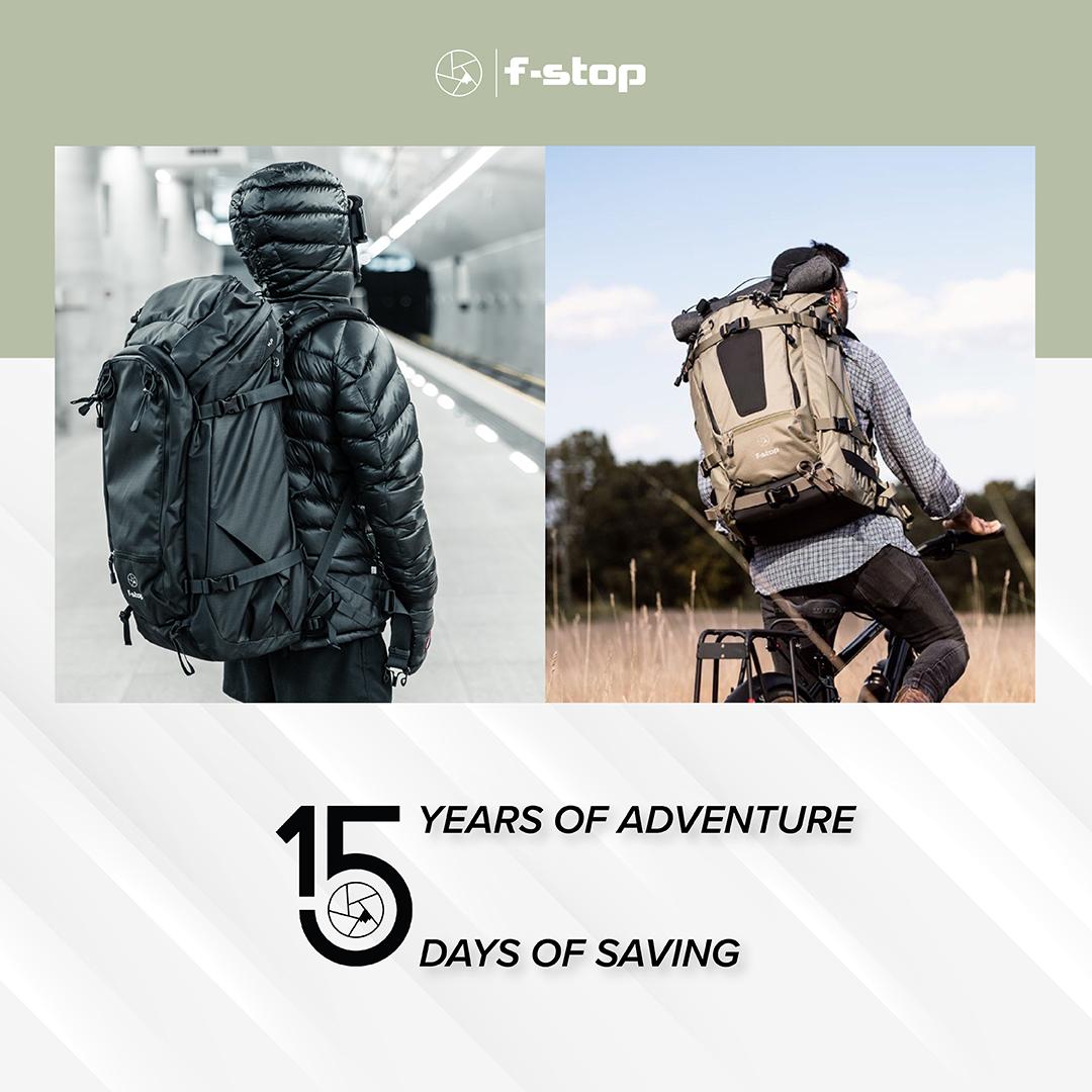 F-Stop 15 Jahre Aktion