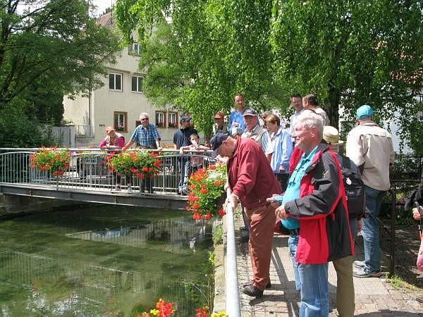 Fotograf: Rolf Koch (Stadt Ehingen/Donau) (Begutachtung der Schmiech, Fischen ist aber leider verboten..)