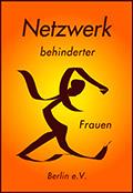 Foto Netzwerklogeo, eine stilisierte tanzende Frau auf orangenem Hintergrund