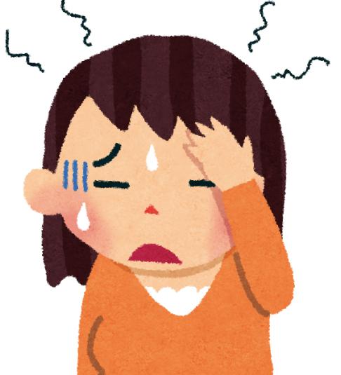 お天気が悪くなって気圧が下がると、頭痛がおこります。
