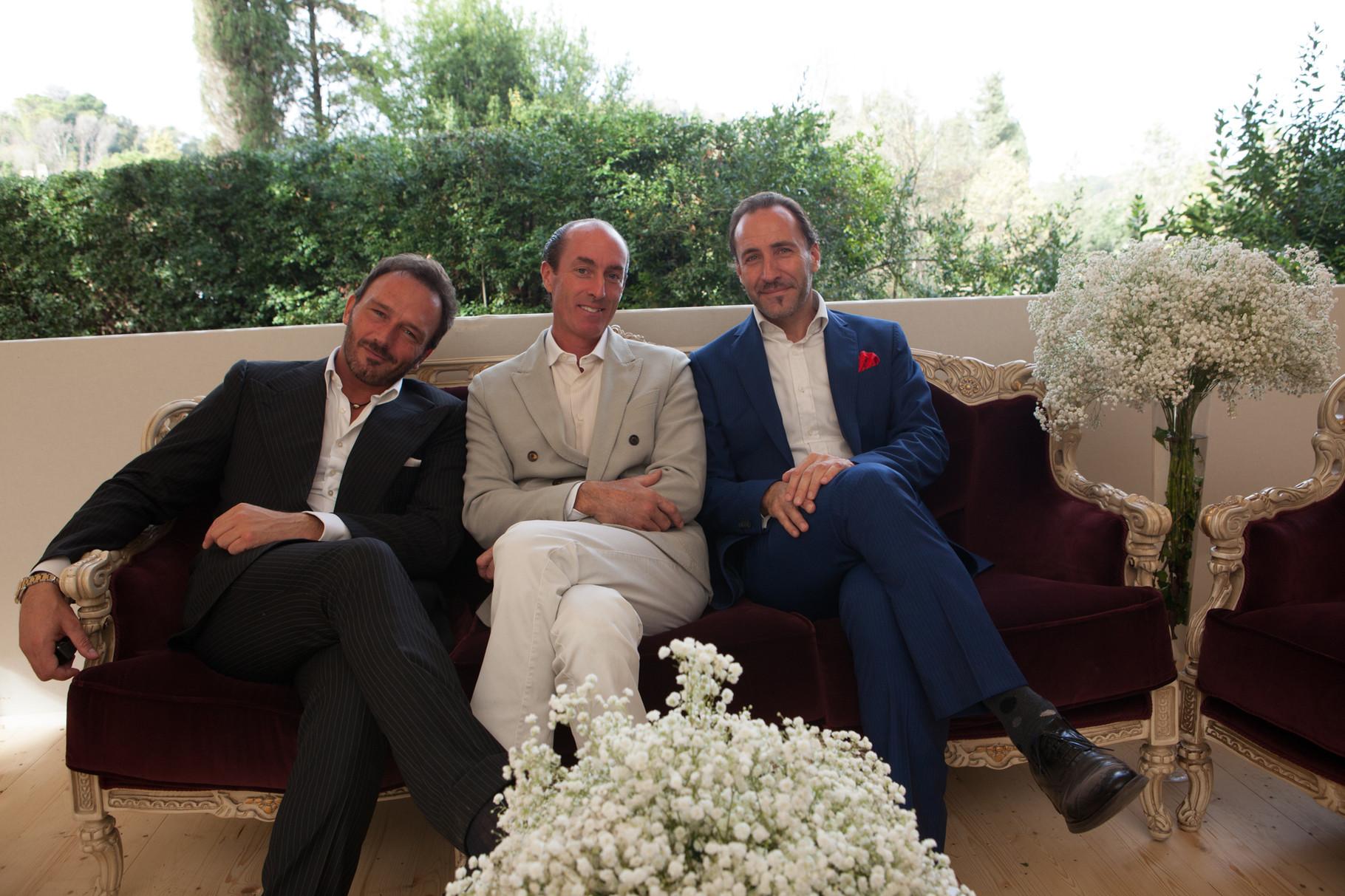 Borgo Boncompagni Ludovisi - gli organizzatori del catering con il Principe Francesco Maria Boncompagni Ludovisi