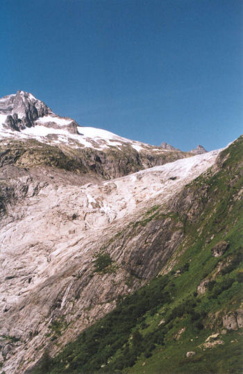 Rhonegletscher in 2001