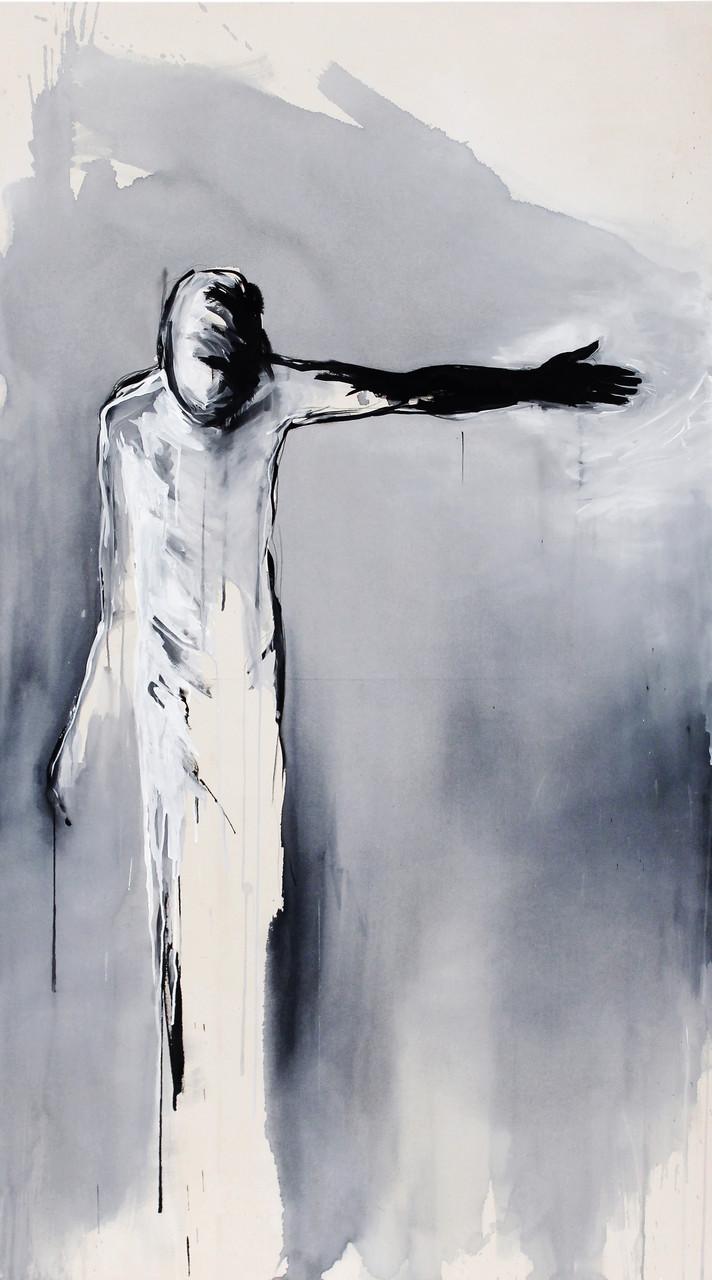 """and so it begins""  acryl auf leinwand 200x110 2014"