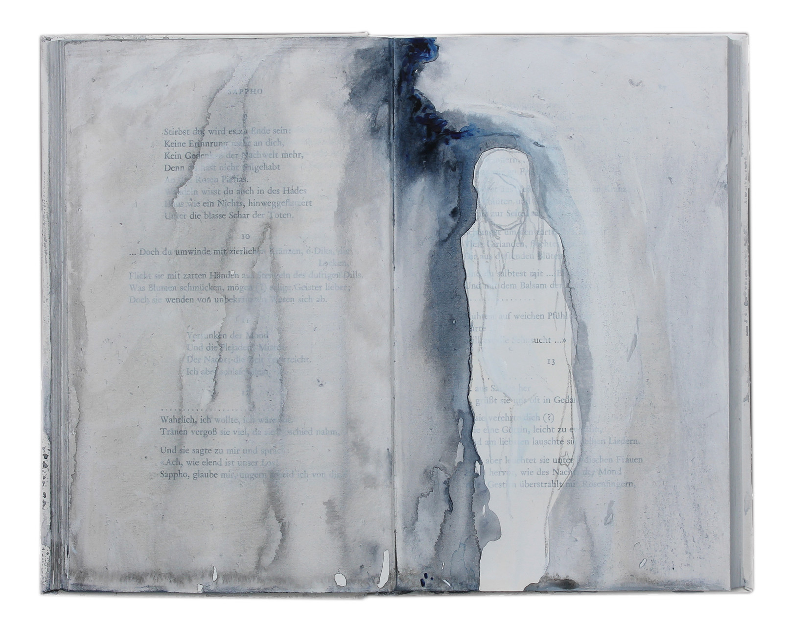 """untold stories (8)""  Acryl Buchobjekt  2013"