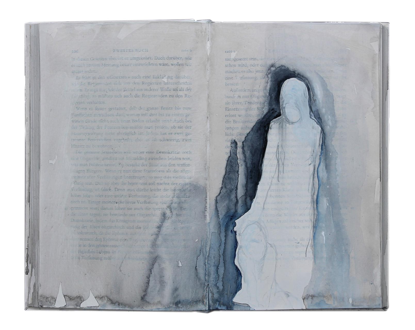 """untold stories (5)""  Acryl Buchobjekt  2013"