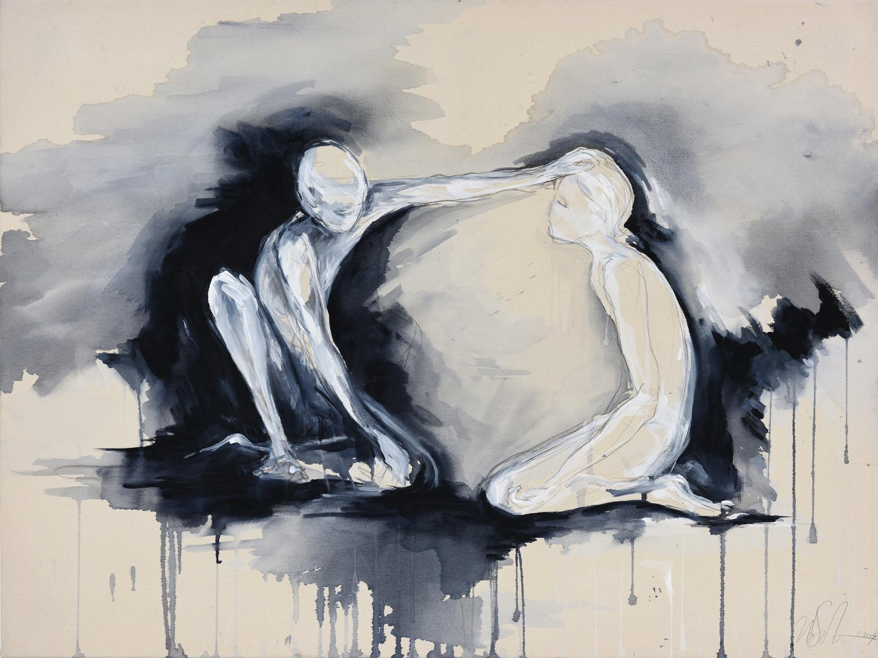"""the offering II""  acryl auf leinwand 90x120 2014"