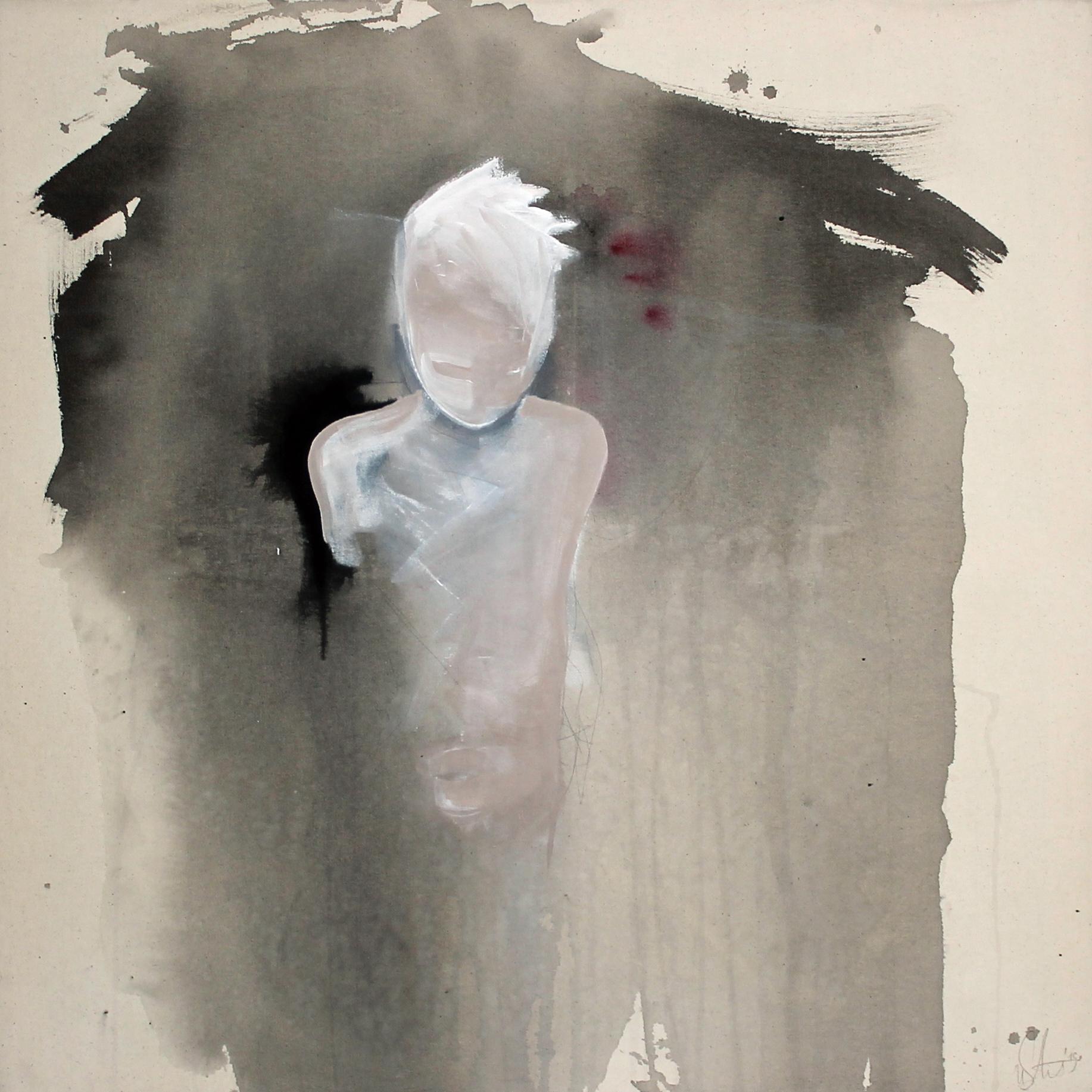 """""""a touch of something"""" Acryl auf Leinwand 90x90cm 2019 (derzeit in der Galerie Augarde, Daun)"""