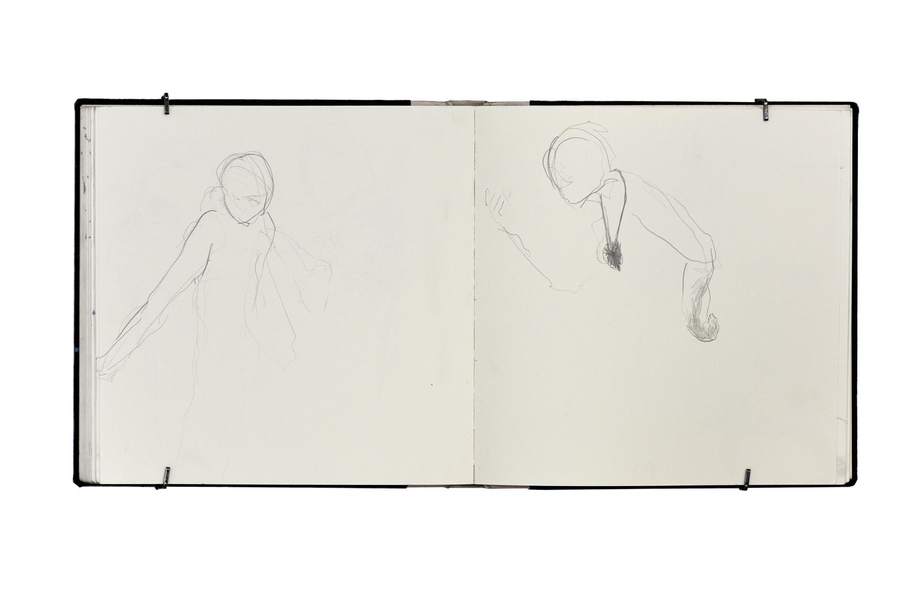 """""""daniel / Skizzenbuch V""""  20x20cm  2014"""
