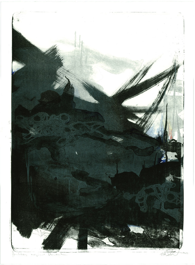 """dusk""  56x76cm 2012"