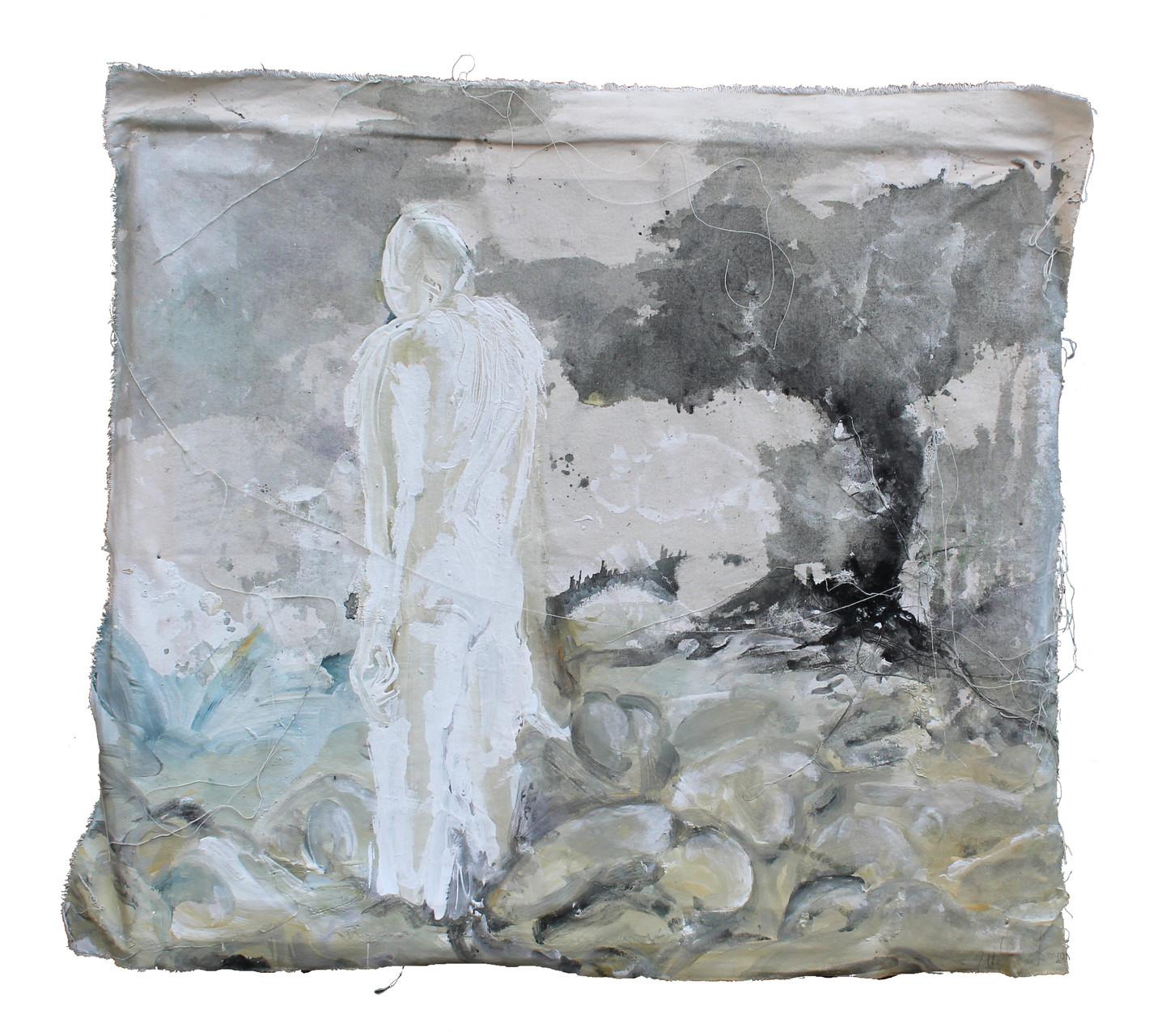 """""""dawn""""   acryl auf Leinwand  60x70cm  2011 (sold)"""