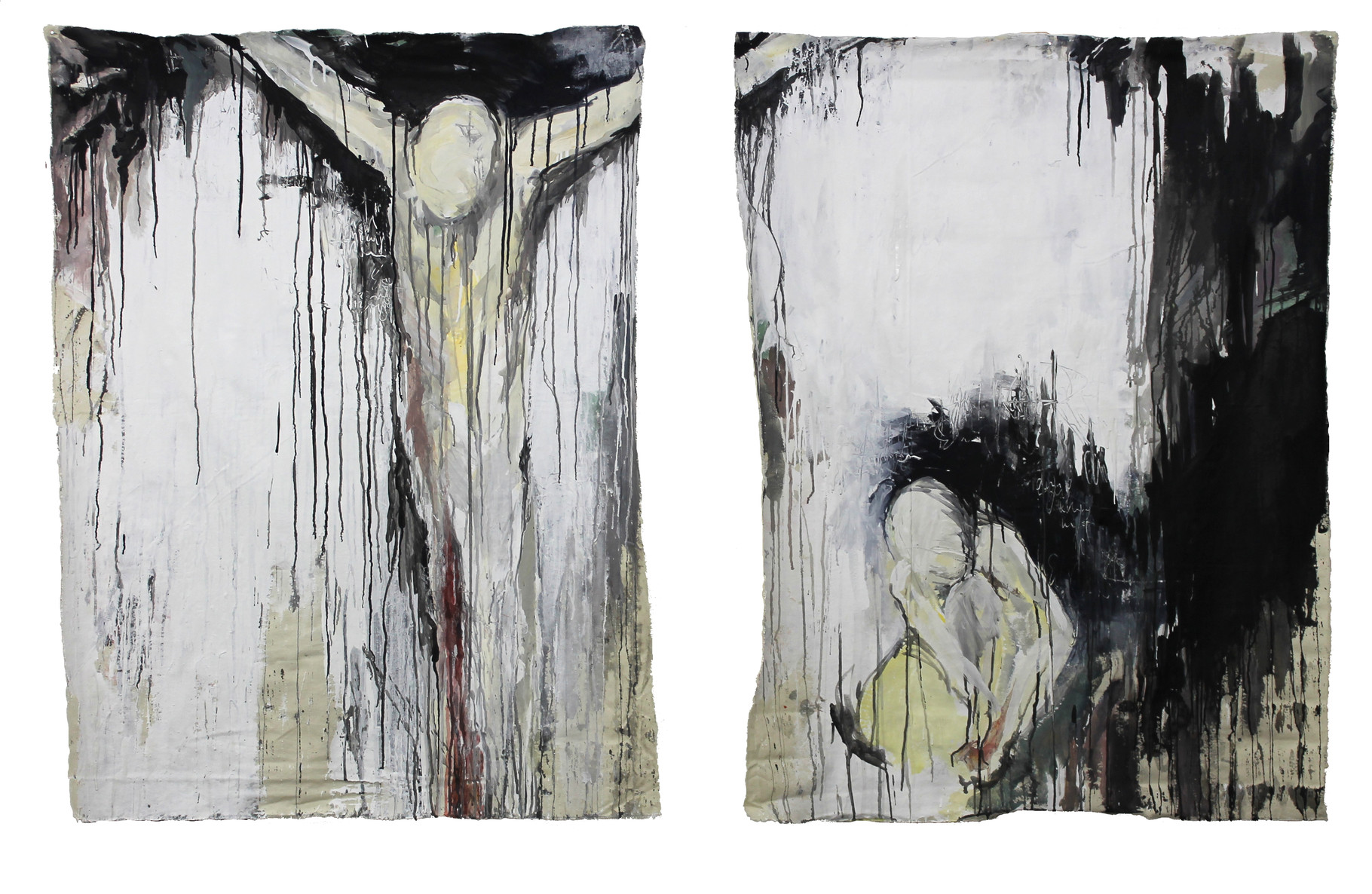 """the void it frightens me""   acryl auf Leinwand  120x220cm  2012 (sold)"