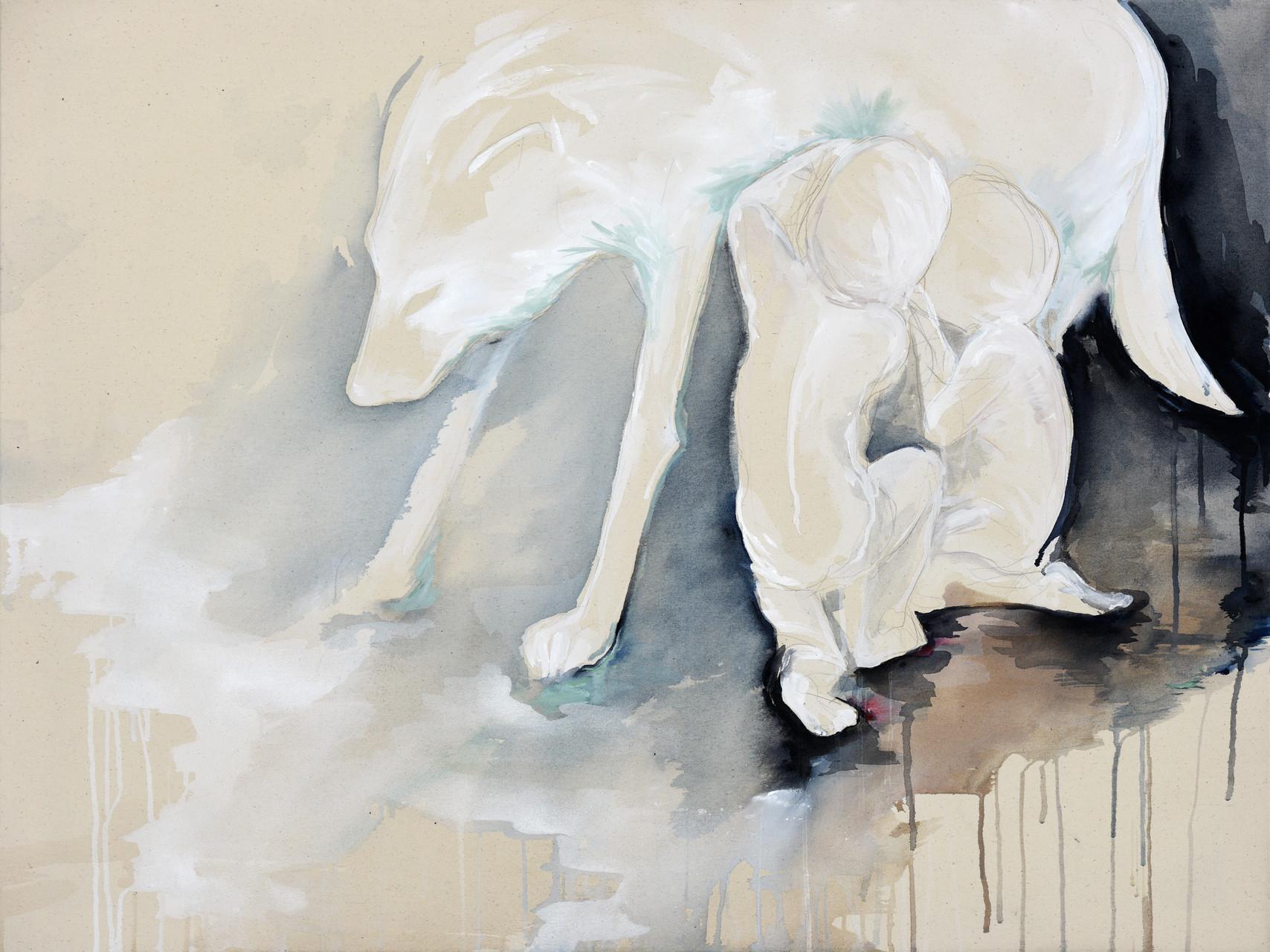 """lupa""  acryl auf leinwand 90x120 2014"
