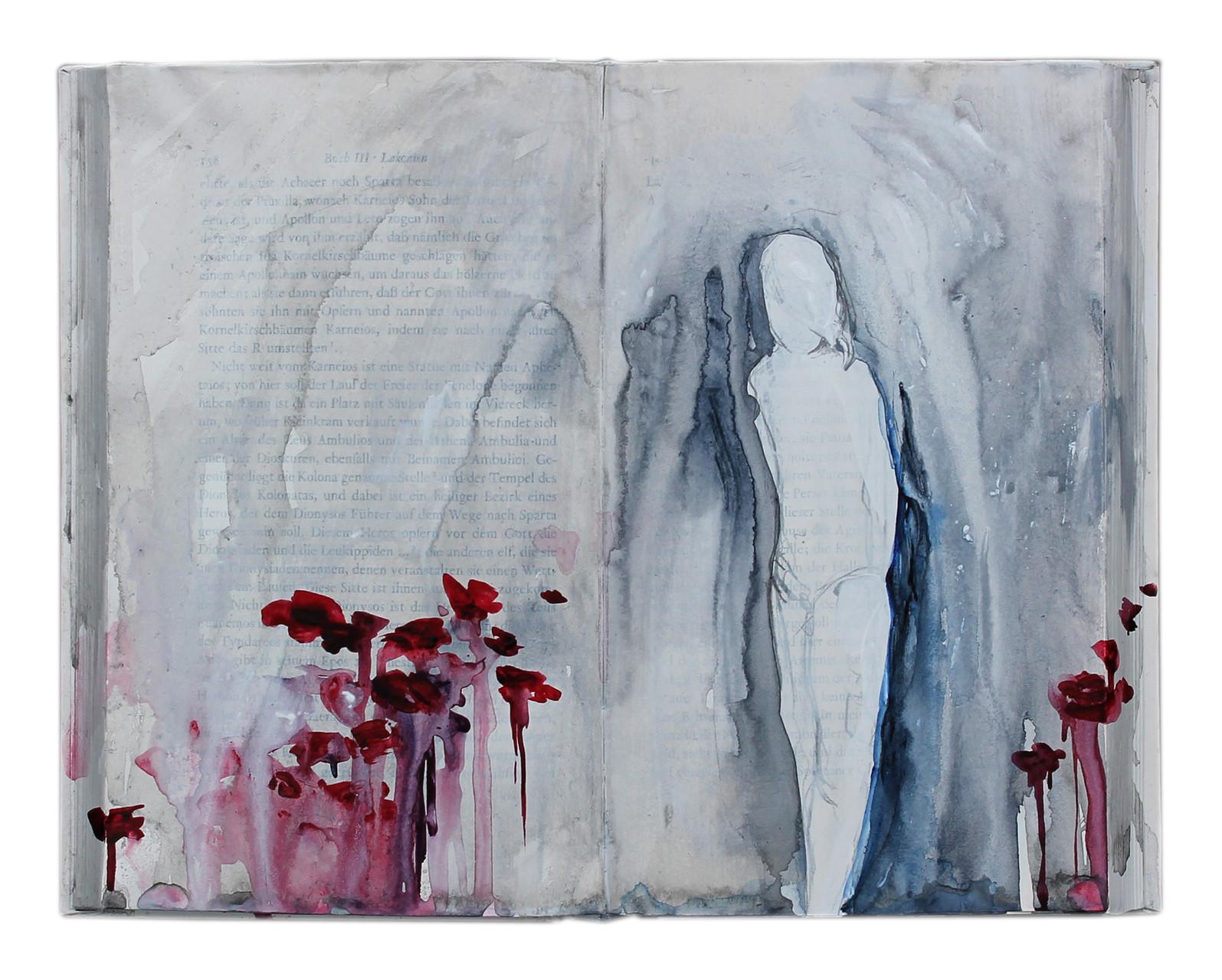 """untold stories (6)""  Acryl Buchobjekt  2013 (sold)"