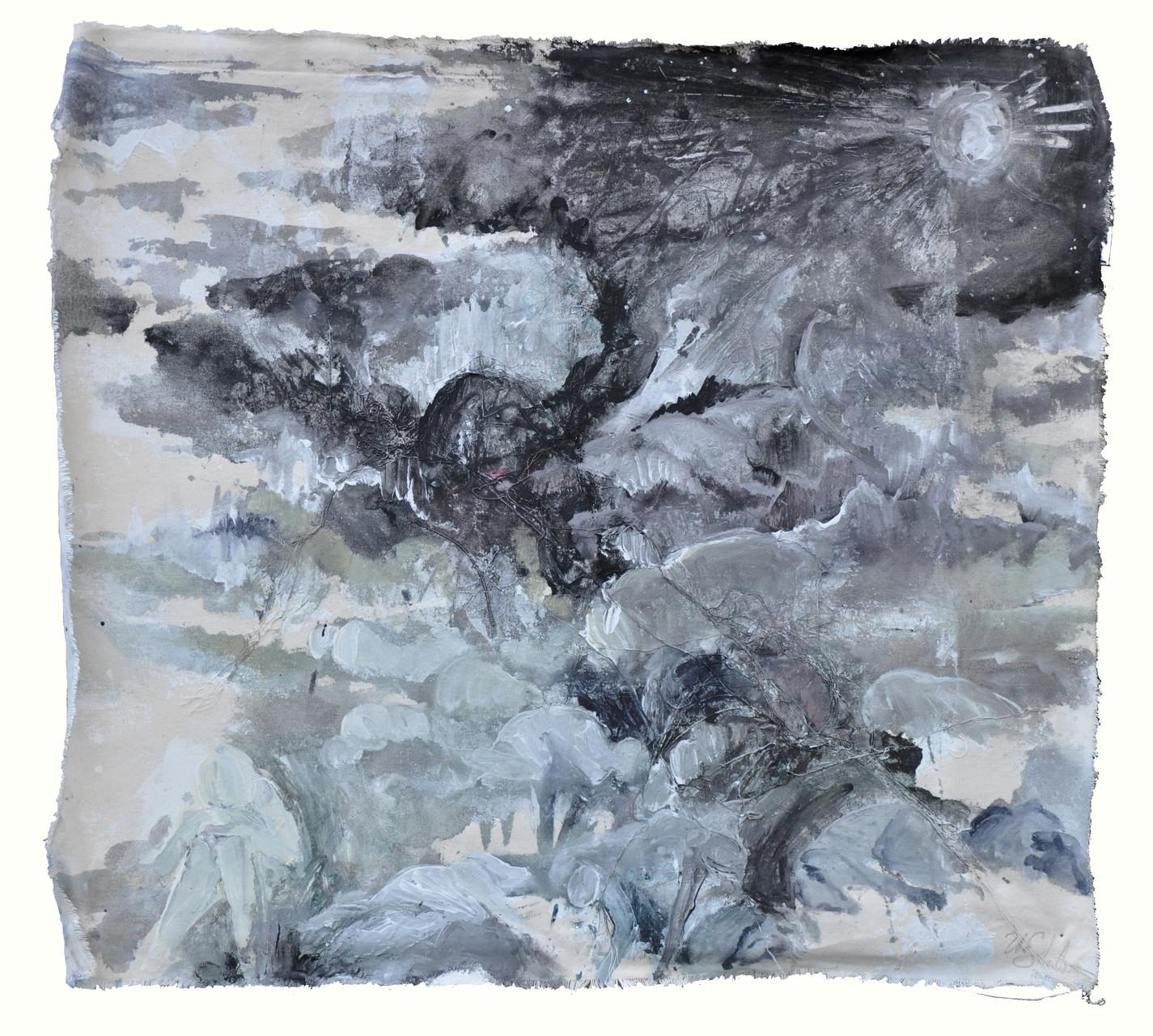 """""""fimbul""""   acryl auf Leinwand  60x70cm  2011"""