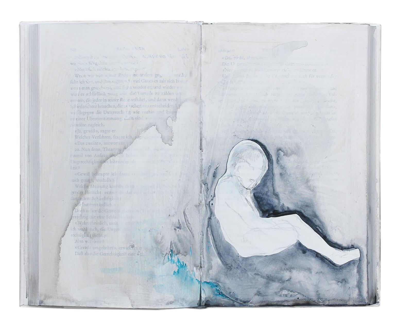 """untold stories (2)""  Acryl Buchobjekt  2013"