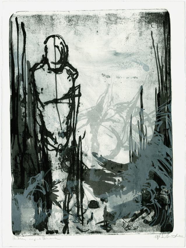 """o.T. (man,wolf, child)""  56x76cm 2011/2012"