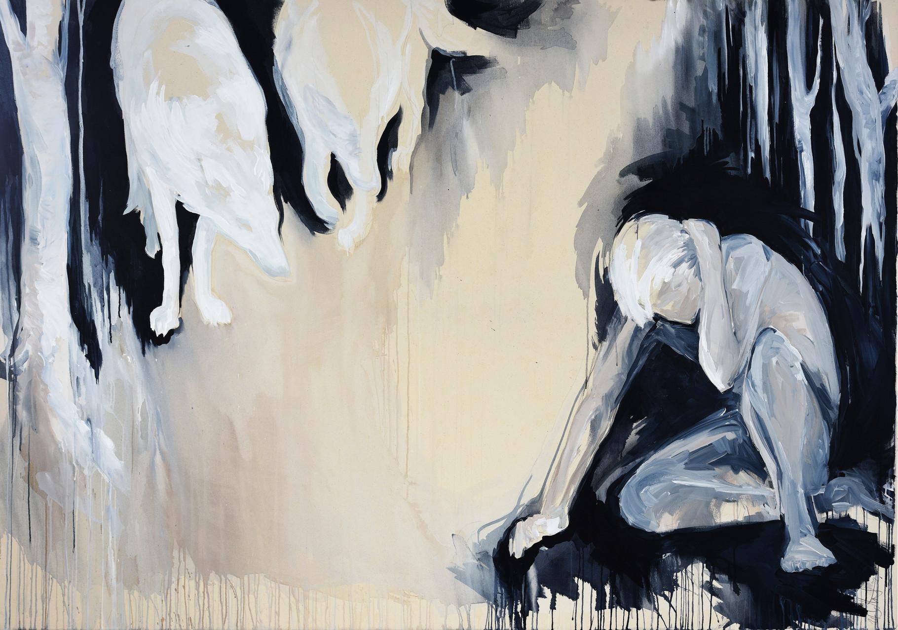 """""""drawing nearer""""  acryl auf leinwand 140x200 2014"""