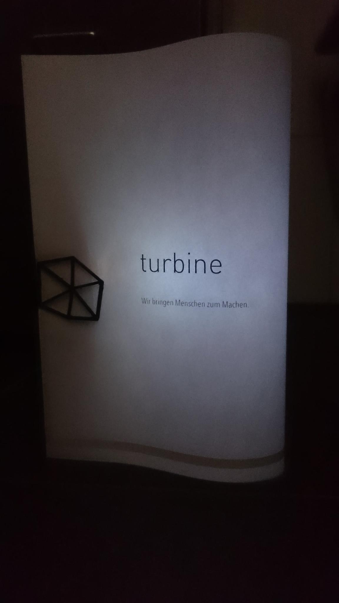 Bring die Turbine zum Leuchten.