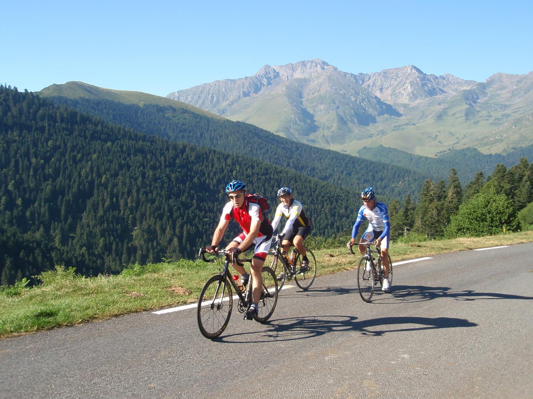 Paysage durant la montée du Col d'Aspin