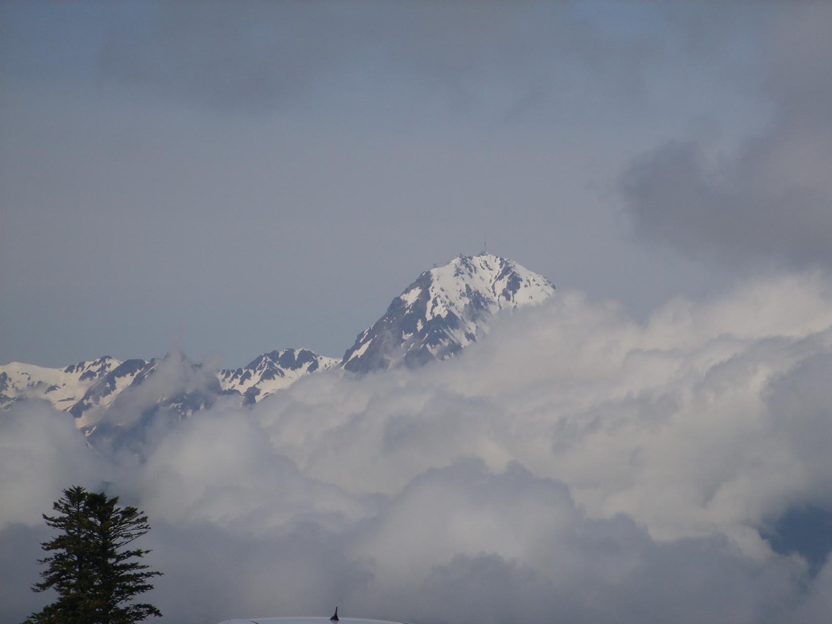 Le pic du Midi de Bigorre depuis le col d'Aspin