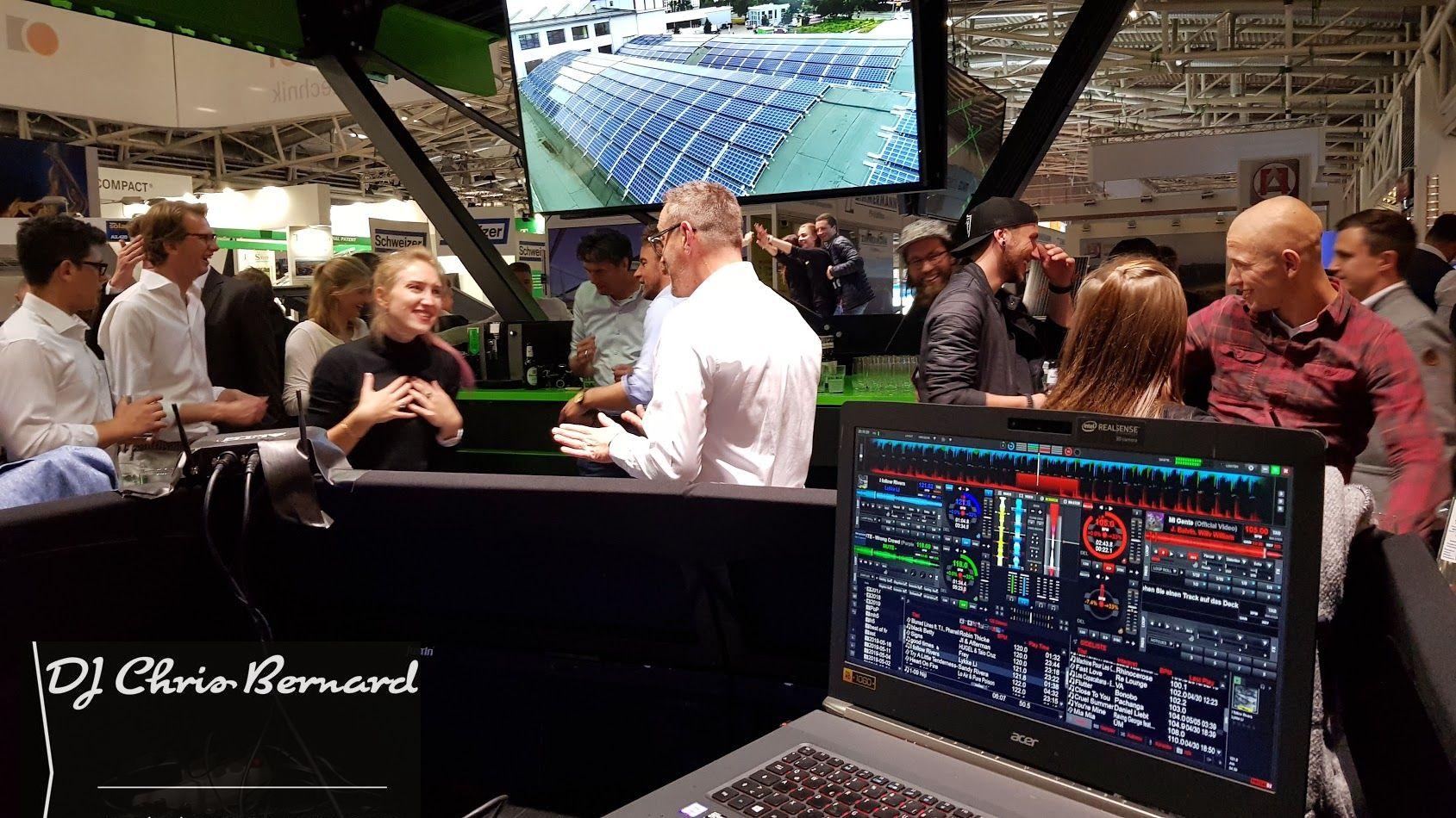 Messe DJ Chris Bernard @ Booth Party Inter Solar