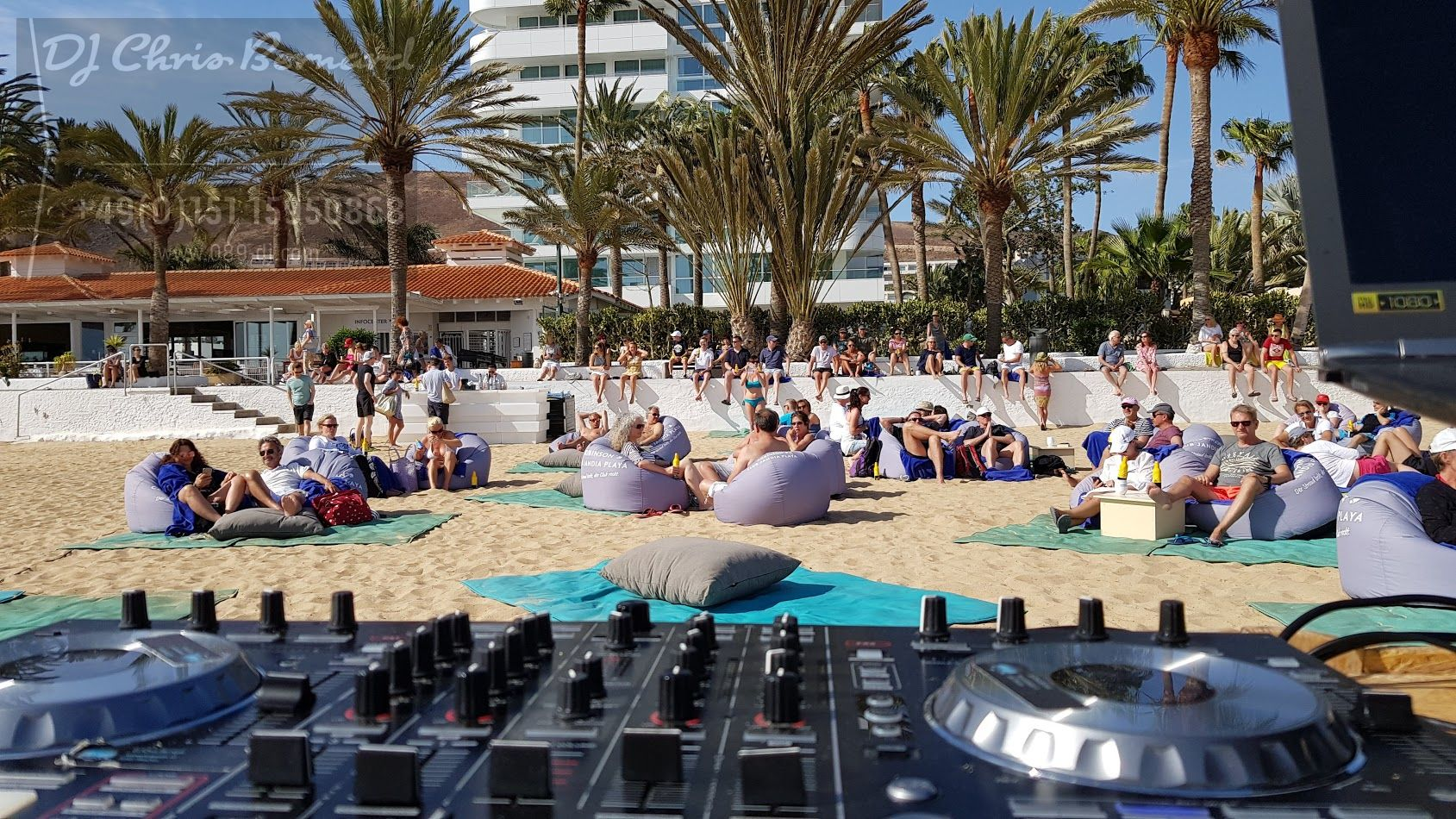 DJing @ Beach Resort Spain