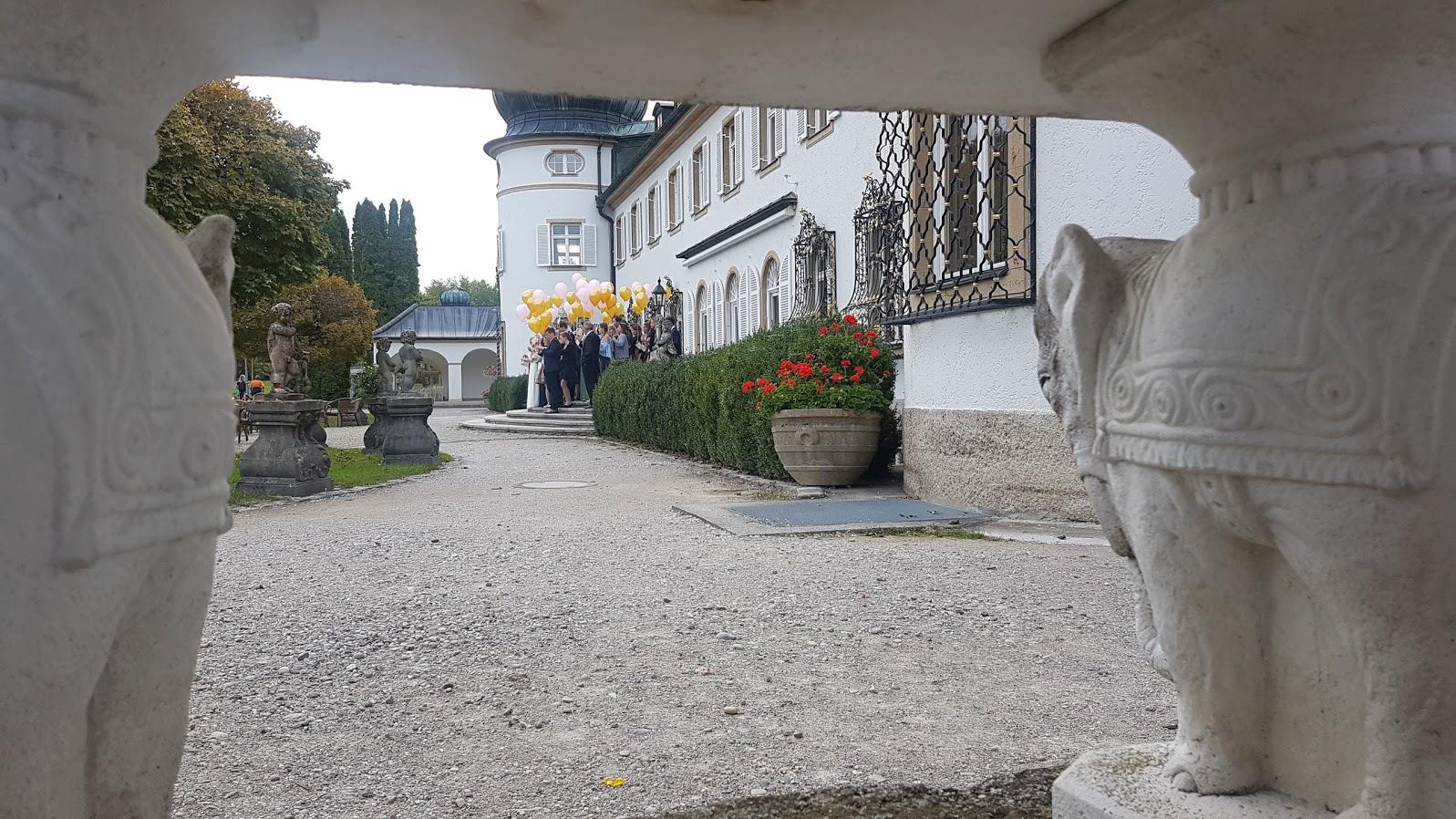 Hochzeitsfoto zur Hochzeit im Schloss Höhenried