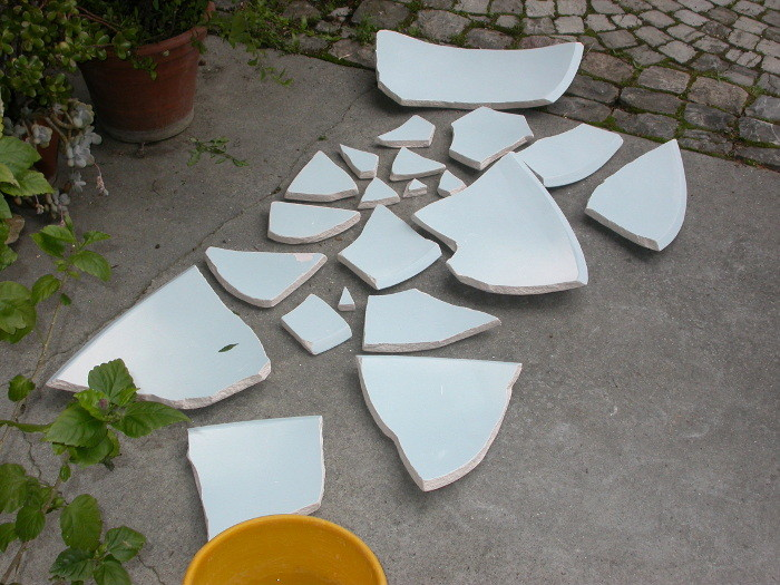 Fragments after first firing