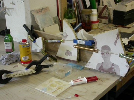 Reassembling and gluing fragments