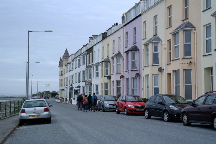 Criccieth: where we rented a house