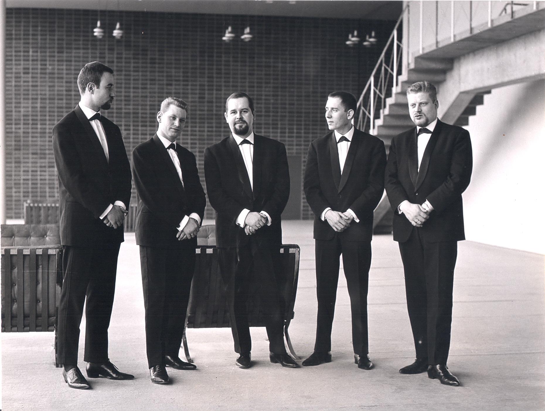 Das Michael Naura Quintett 1961 (Schlüter 2. von Links). Fotocredit: Wolfgang Schlüter