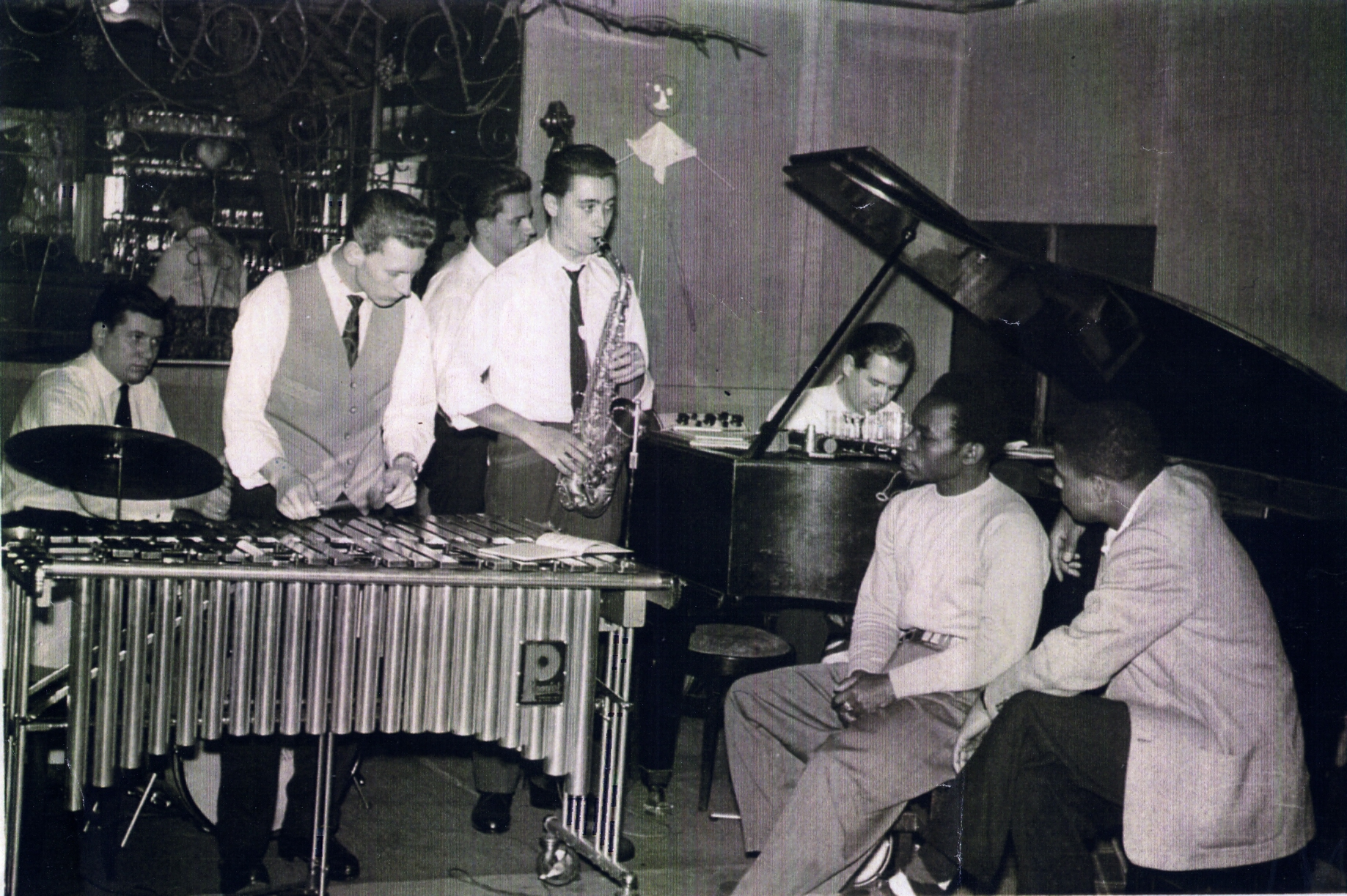 Das Michael Naura Quintett im Hamburger Barett 1956. Fotocredit: Wolfgang Schlüter