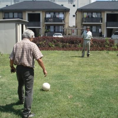 8月7日 きれいに刈れたので、サッカーがしたくなりました。