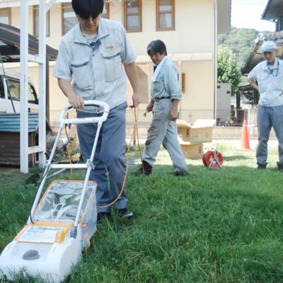 8月7日 リョービの芝刈り機が大活躍です。