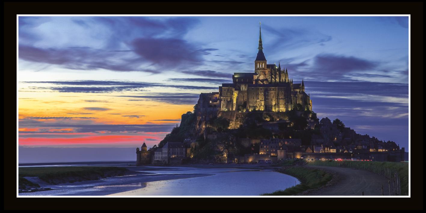 Mont St Michel crépuscule