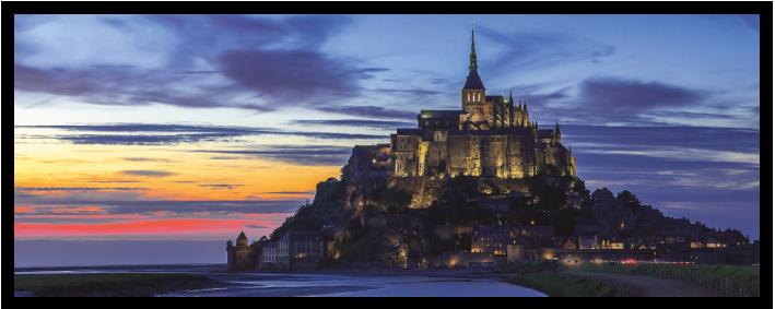 Mont Saint-Michel Crépuscule