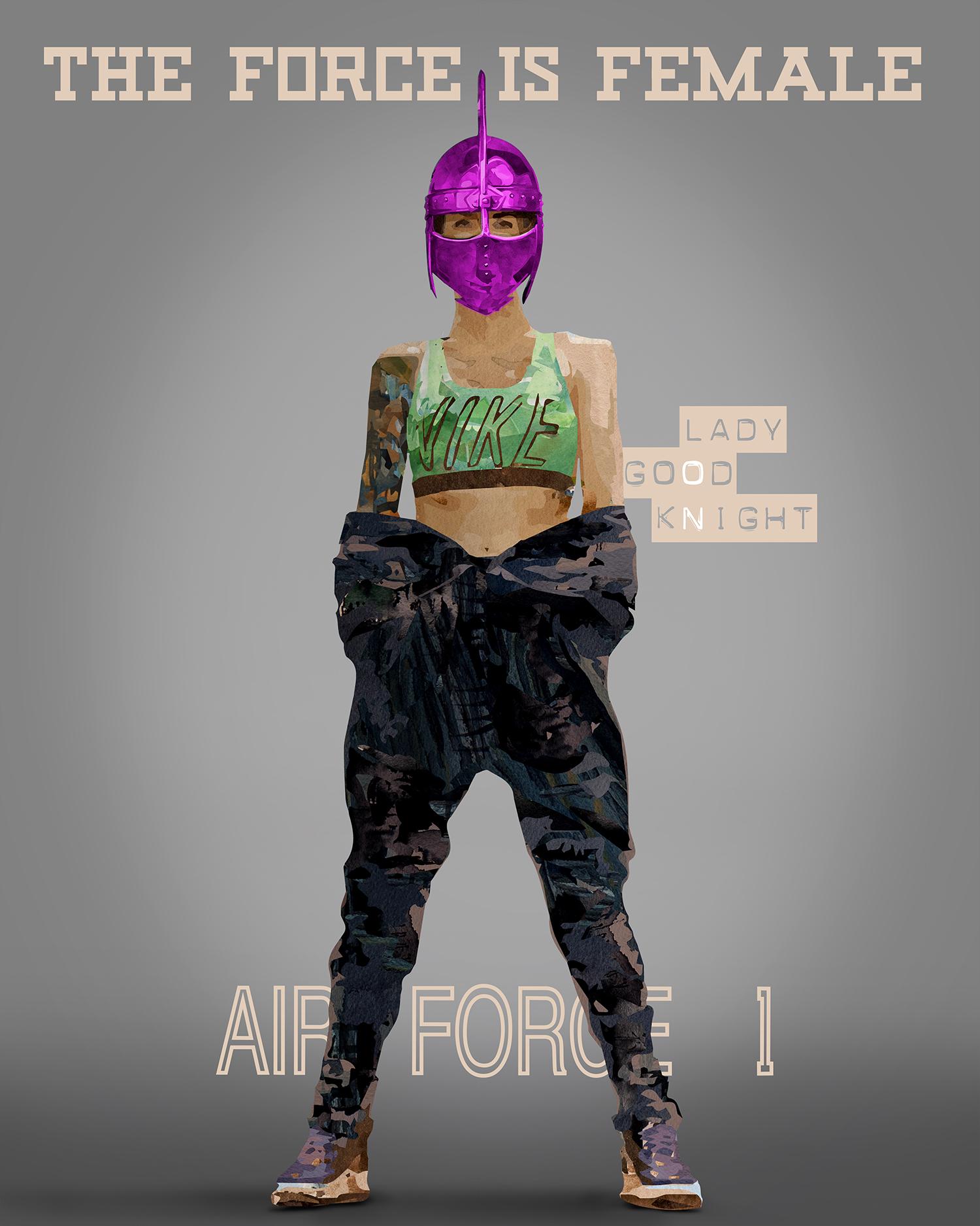 Illustration Social Media Kampagne Nike