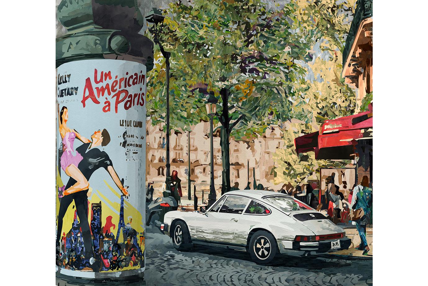 Illustration Porsche in Paris