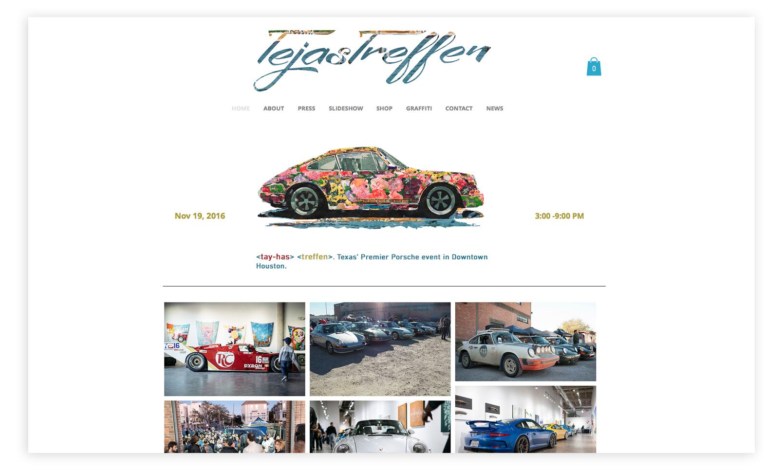 Homepage, Onlineshop