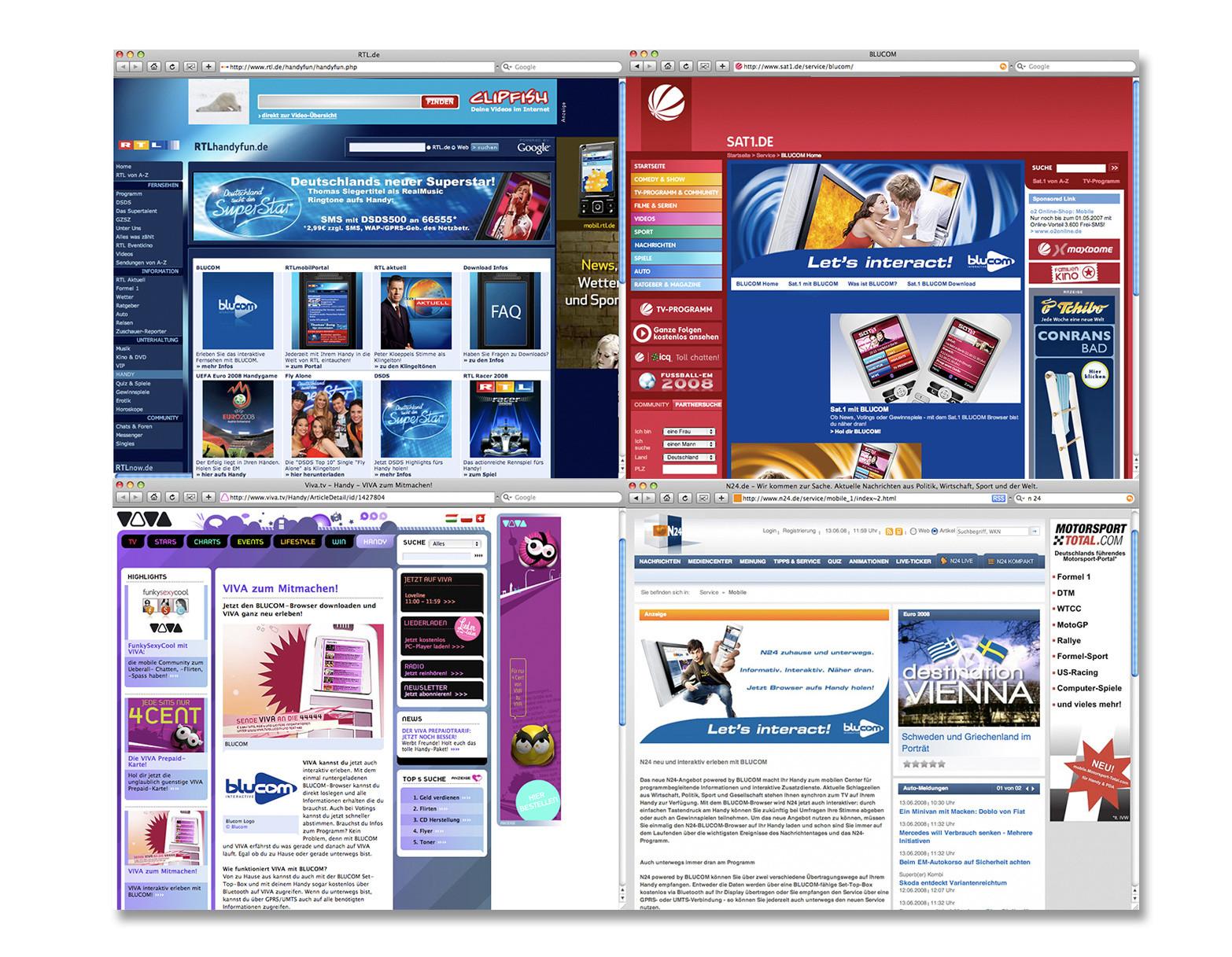 Kampagne Blucom Online