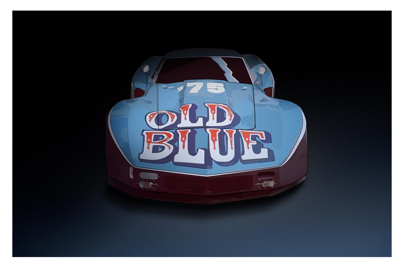 Illustration Old Blue