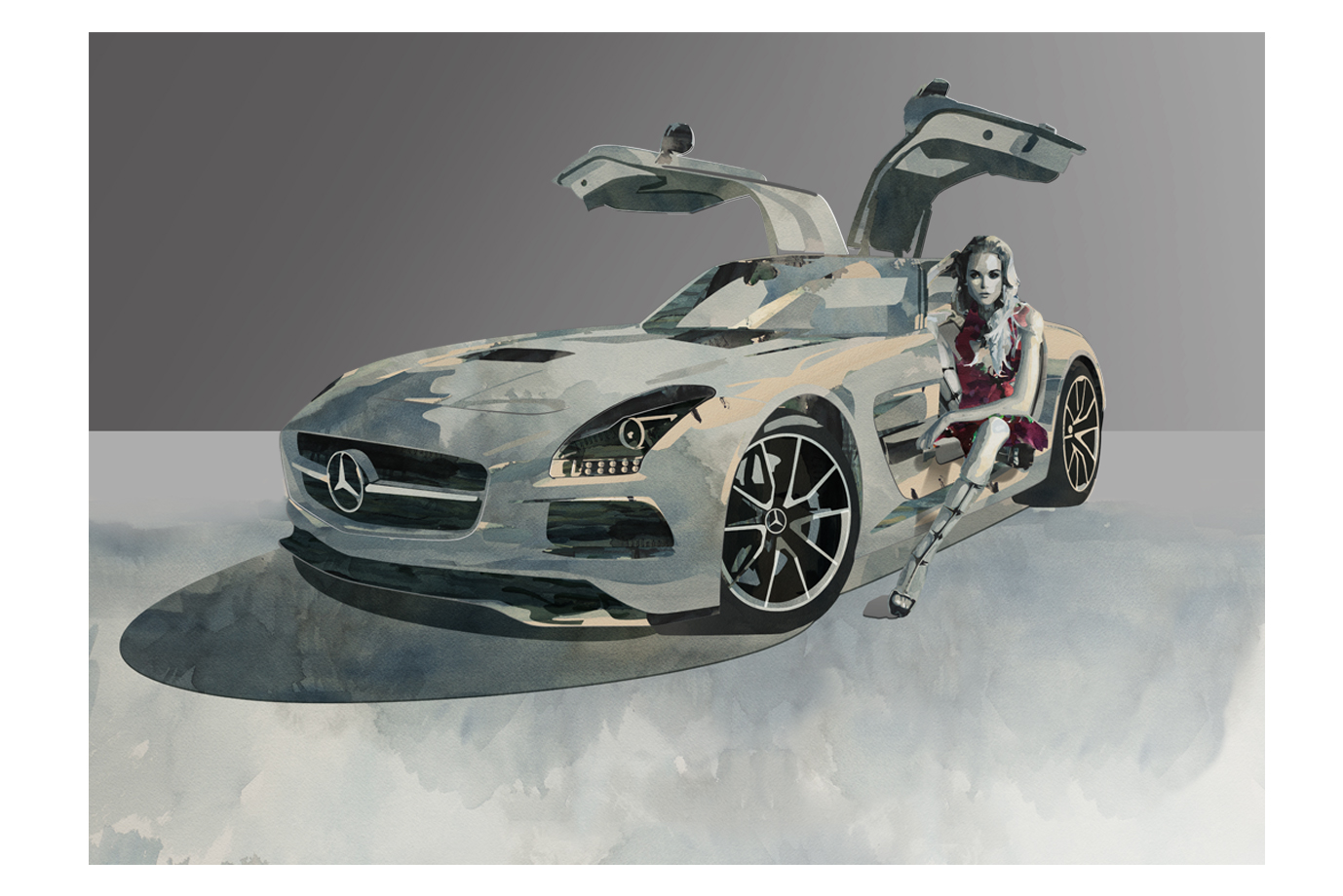 Illustration Mercedes SLS