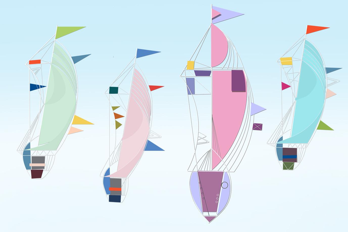 Illustration Segelschiffchen