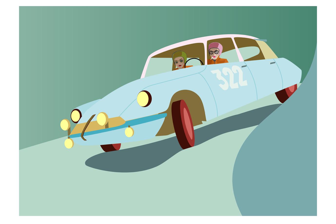 Illustration Rallye Ladies