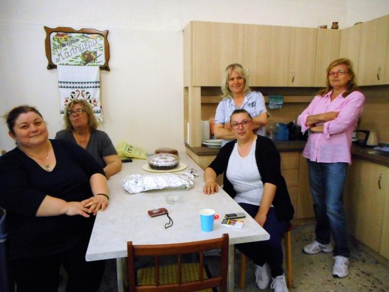 Die Frauen von Poros, die uns reichhaltig mit leckerem griechischen Gebäck versorgt haben