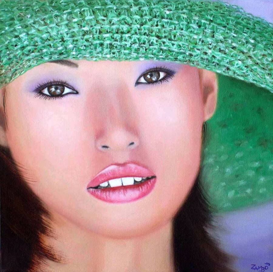 """The Girl in the Green Hat"""