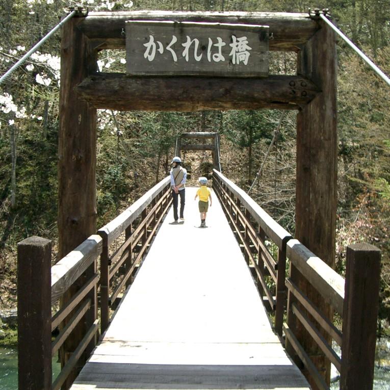 ゆらゆら揺れる吊り橋も人気!