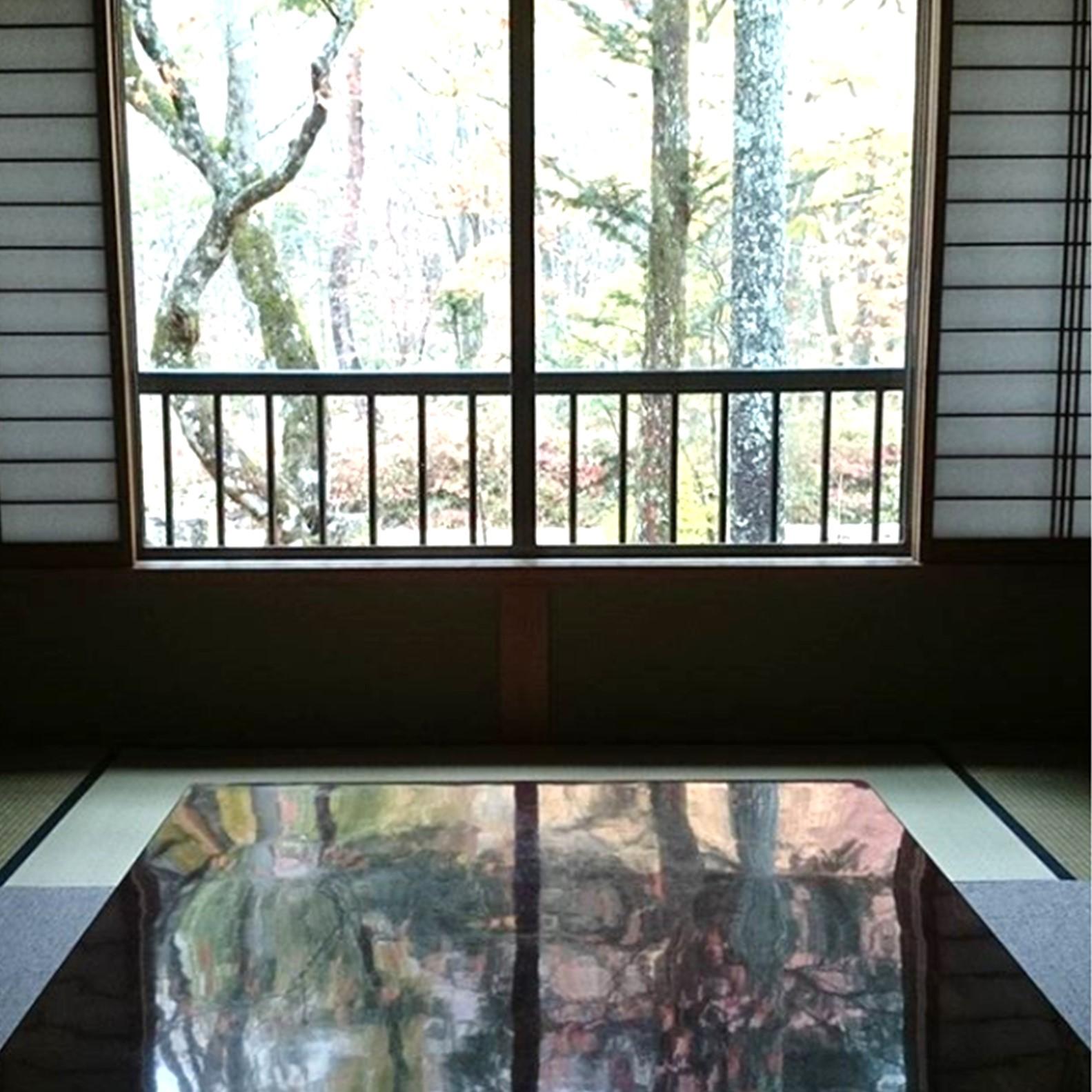 秋神温泉の部屋から眺める大自然